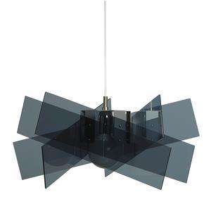 Lampadario a sospensione Ø69xh38 cm KARTIKA BIG supporto in metallo in metacrilato Grigio Fumè