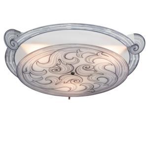 Plafoniera da soffitto 3 Luci diametro 60xh12 cm POST IT Emporium Bianco