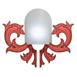 Applique in Metacrilato 1 Luce dimensioni 27x21xh35 cm POST IT Emporium Rosso