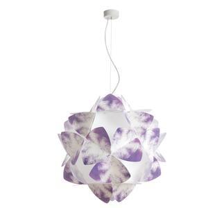 Lampada a sospensione 3 luci sandylex pearl Cotton Light Ø63 cm Viola
