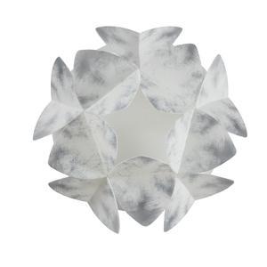 Applique da muro sandylex pearl Cotton Light Ø35 H18 cm Grigio nuance
