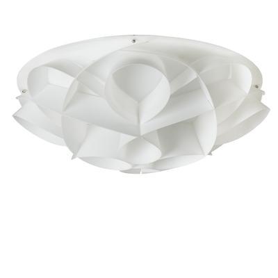 Plafoniera 4 luci con calotta Gin PMMA -GEMMA Ø70xh22 cm bianco perla