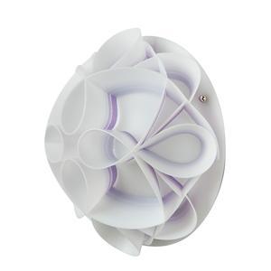 Applique con calotta GEMMA Ø28xh13 cm bianco perla decoro viola