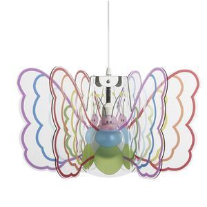 Lampada a sospensione per camerette Butterfly Ø 55xh 32 cm in multicolor