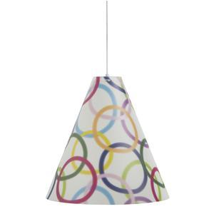 Lampada a sospensione per camerette DUOLI Ø 40xh 42 cm in multicolor decoro rings