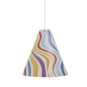 Lampada a sospensione per camerette DUOLI Ø 40xh 42 cm in multicolor decoro righe
