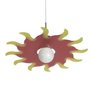 Lampada a sospensione in cristallo acrilico per camerette SOL Ø50xh 13 cm colore rosso