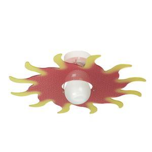 Plafoniera in cristallo acrilico per camerette SOL Ø50Xh 13 cm colore Rosso