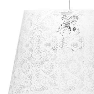 Sospensione con paralume conico in policarbonato PIXI Ø 66xh 63 cm con paralume conico 3 luci bianco