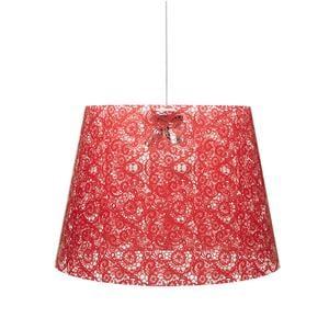 Sospensione con paralume conico in policarbonato PIXI Ø 30xh 27 cm con paralume conico 1 luce rosso