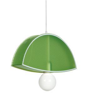 Sospensione in cristallo acrilico prismatico BLUNDER 42x42xh10 cm 1 luce verde trasparente