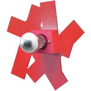 Applique da muro AKARTIKA 26x8,5xh26 cm supporto in Metallo paralume in metacrilato Rosso
