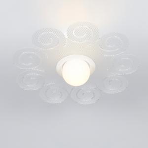 Plafoniera da soffitto in metacrilato Ø45xh13.5 cm Riccy Emporium Spectrall