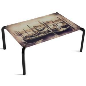 Tavolino Rettangolare Stampato Venezia 75x50xh33 cm in metacrilato 100% riciclabile