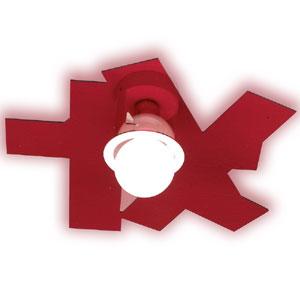 Plafoniera da soffitto diametro 45xh19.5 cm Karty Emporium 1xE27 max 30W Rosso Trasparente