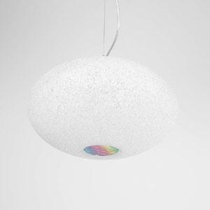 Lampadario a sospensione diametro 32xh22 cm Scintilla Piccola 1xE27 max 30W Flash