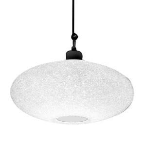 Lampadario a sospensione diametro 58xh32 cm Scintilla Grande 1xE27 max 30W Bianco Satinato