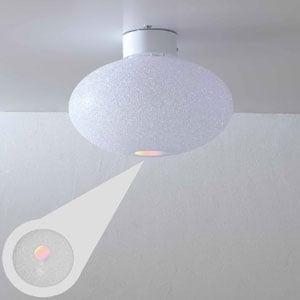 Plafoniera da soffitto diametro 32xh22 cm piccola Scintilla in policarbonato granulare 1xE27 max 30W Flash