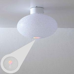 Plafoniera da soffitto diametro 58xh32 cm grande in policarbonato granulare Scintilla 1xE27 max 30W Flash