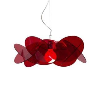 Lampada a Sospensione BEA Ø54 h20cm 1xE27 max 30W in metacrilato satinato Colore Rosso