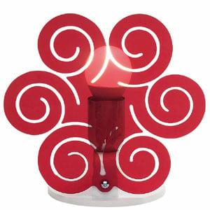 Lampada da Tavolo 23x15xh23 cm ICCI Rosso Trasparente