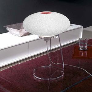 Lampada da tavolo 32x32xh47 cm SCILLA struttura in metacrilato trasparente 1xE27 max 25W Rosso Trasparente