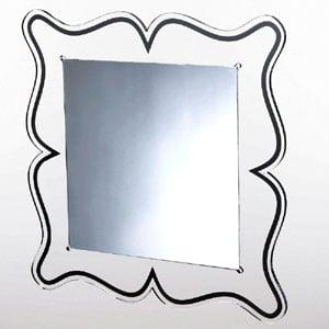 Specchio da muro 60xh60 cm spessore metacrilato 10 mm MAGICO quadrato Nero