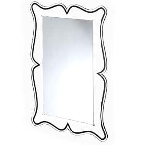 Specchio da muro 60xh90 cm spessore metacrilato 10 mm MAGICO rettangolare Nero