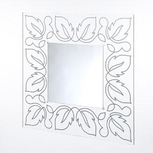 Specchio da muro 80xh80 cm FLORA spessore metacrilato 10 mm quadrato Argento