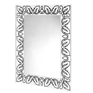 Specchio da muro 75xh100 cm FLORA spessore metacrilato 10 mm rettangolare Nero