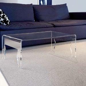Tavolino piccolo da salotto 56x50h31 cm NAIF 4 spessore metacrilato 8 mm Portata max: 20 kg