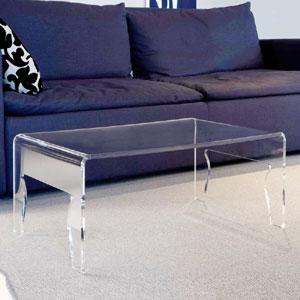 Tavolino grande da salotto 85x50h31 cm NAIF 5 spessore metacrilato 8 mm Portata max: 20 kg