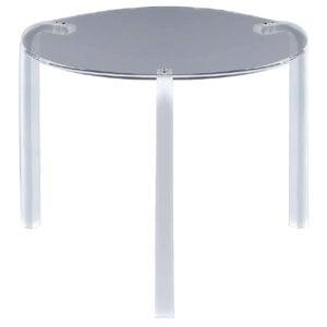 Tavolino tondo basso diametro 50xh42 cm FINNY 2 - in metacrilato trasparente Portata max: 15 kg