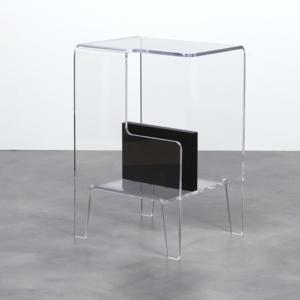 Tavolino multifunzioni 40x33xh60 cm GLOVE SX tavolino. Comodino Portariviste Portata Nero