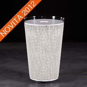 Portabiancheria 38x38xh61 cm in policarbonato RAYON decoro Bianco