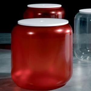 Portabiancheria Contenitore 47x47xh48 cm con coperchio e seduta KIKAO Rosso