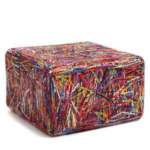 Pouf ZOE in materiale plastico termofuso 69x69xh42 cm Multicolor