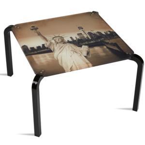 Tavolino Quadrato Stampato New York 50x50xh33 cm in metacrilato 100% riciclabile