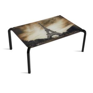 Tavolino Rettangolare Stampato Parigi 75x50xh33 cm in metacrilato 100% riciclabile