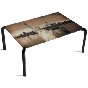 Tavolino Rettangolare Stampato New York 75x50xh33 cm in metacrilato 100% riciclabile