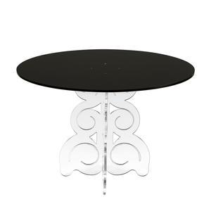 Tavolino Ovale basso 62x40xh41 cm in metacrilato 100% riciclabile piano Nero