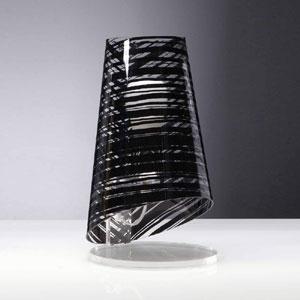 Lumetto da tavolo con Paralume conico in policarbonato PIXI Ø18xh32 cm 1xE27 Max 30W