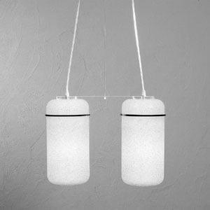 Lampadario a sospensione 2 lampade BLOOM 44x16x34cm colore particolari Nero