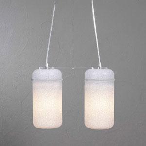 Lampadario 2 lampade BLOOM Bianco