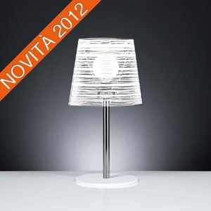 Lampada da tavolo diametro 30xh56 cm con paralume in policarbonato PIXI Bianco