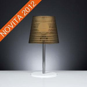 Lampada da tavolo diametro 30xh56 cm con paralume in policarbonato PIXI Oro
