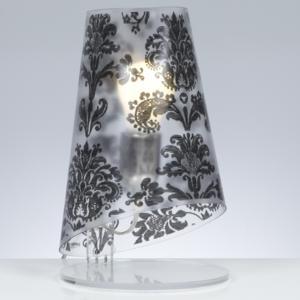 Lumetto da tavolo con Paralume conico in policarbonato BABETTE Ø18xh32 cm 1xE27 Max 30W