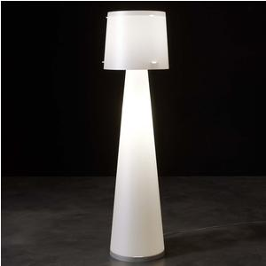 Lampada da terra diametro 37 x h140 cm DIVA Avorio in polipropilene