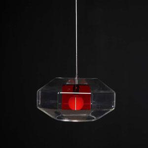 Lampadario a sospensione ADAMAS diametro 60 rosso
