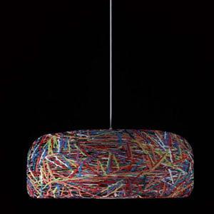 Lampadario a sospensione con paralume in mat.palstico CAKE diametro 700 Multicolor